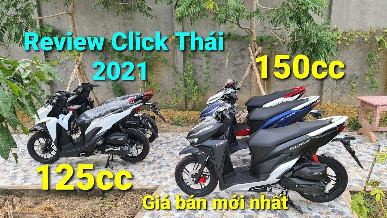 Tampilan jarak dekat dari Honda Click Thai 2021 dalam warna terbaru di Mai Duyen.  Click125 baru dalam Hitam & Putih |  Hitam itu keren