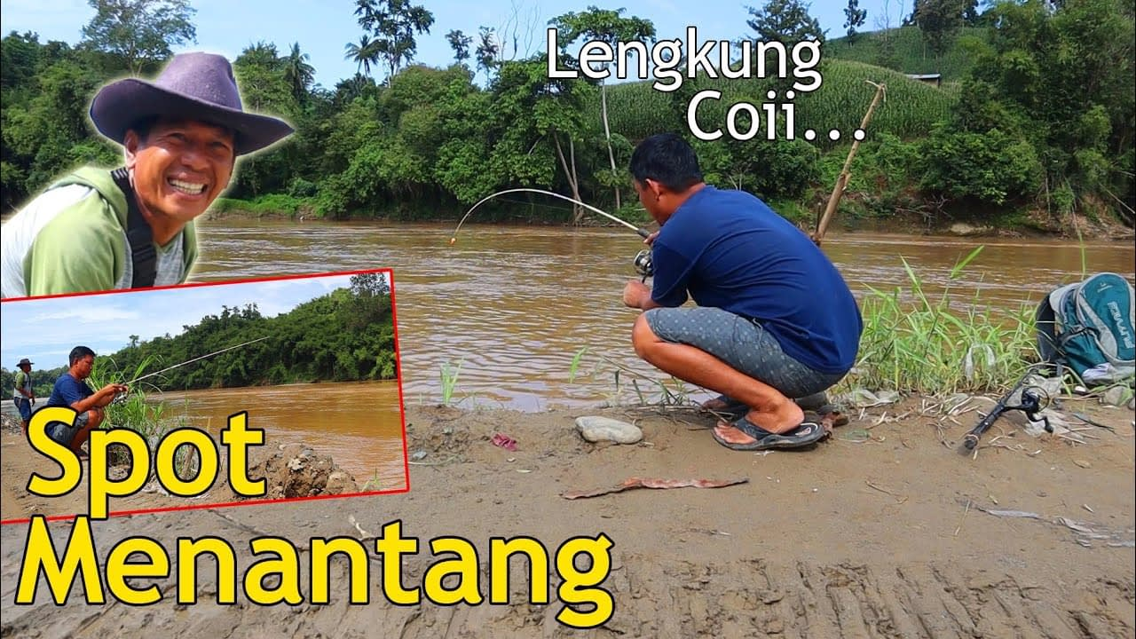 Menantang Juga Mancing Di Sungai ini Bikin Melengkung Joranku