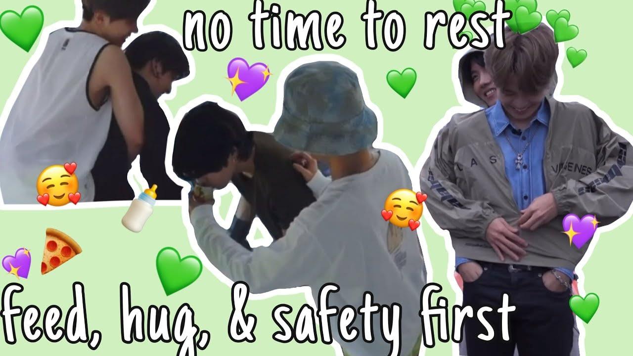 Hobi menjaga anggota |  Yang paling baik hati, Hyung Peduli sibuk menjaga anak laki-laki