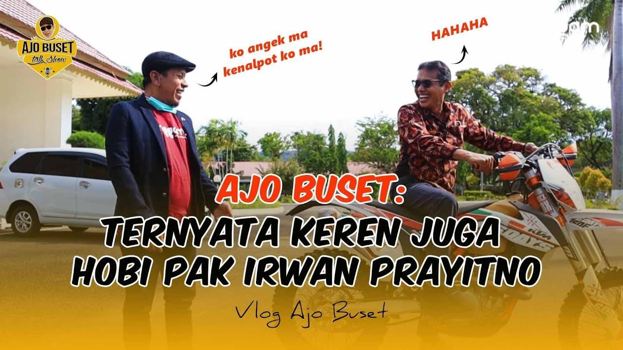 Busettt! Hobi Irwan Prayitno 'Mandacak Kuda Besi'  Hingga Menabuh Drum   #VLOG Ajo Buset