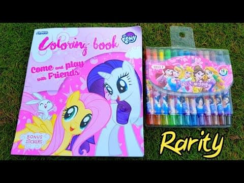 Mewarnai Rarity My Little Pony 💖 Buku Mewarnai My Little Pony – Hobi Mewarnai Crayonya Princess