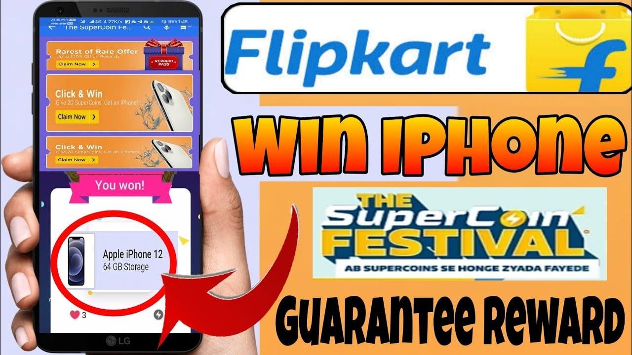 Festival Flipkart Supercoin Klik Dan Menang    Dapatkan Imbalan Jaminan Kartu Imbalan Ponsel 2021 Gratis